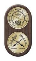Метеостанция барометрическая (погодник) (барометр,термометр, гигрометр) настененный, цвет орех.