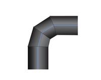 Отвод ПНД 90 сварной двухсекционный PN10 SDR17