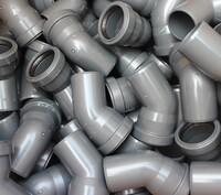 Отвод ПВХ серый