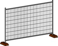 Панель DFence Build 3254*2000 яч.100*300 4мм Zn (временное ограждение)