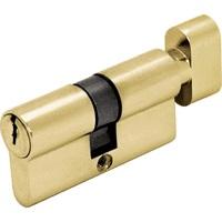 Цилиндр DIN ключ/завертка (30+30) S 60 M золото Шлосс 03010